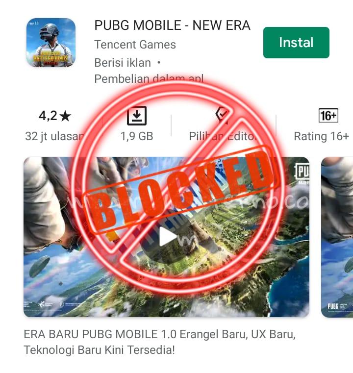 India resmi memblokir PUBG MOBILE